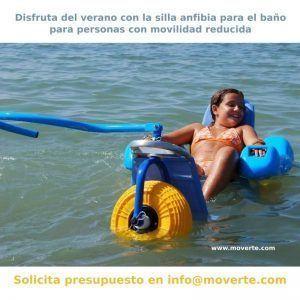 Silla de baño infantil para playa